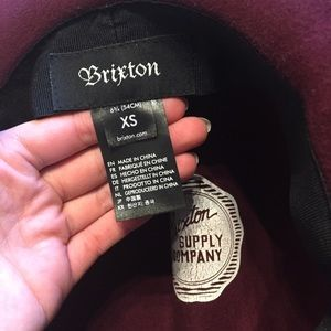 Brixton Accessories - Brixton Piper burgundy felt hat XS